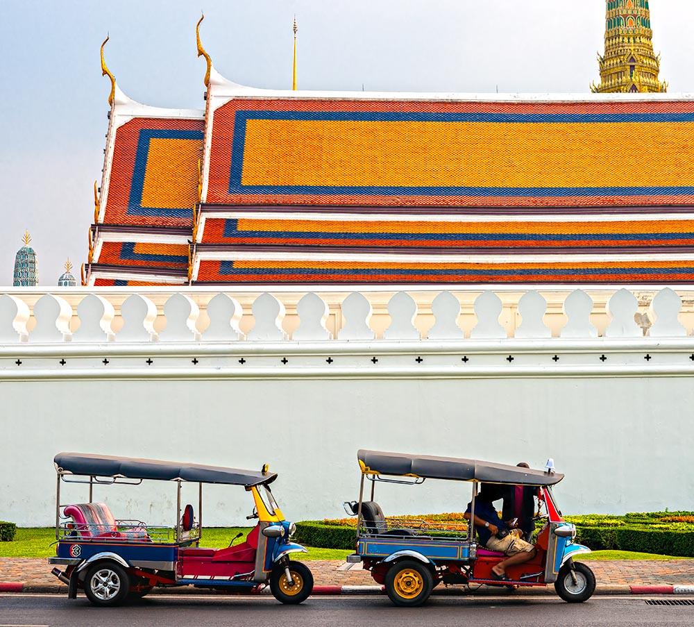 Tuk tuk waiting passengers, Bangkok.