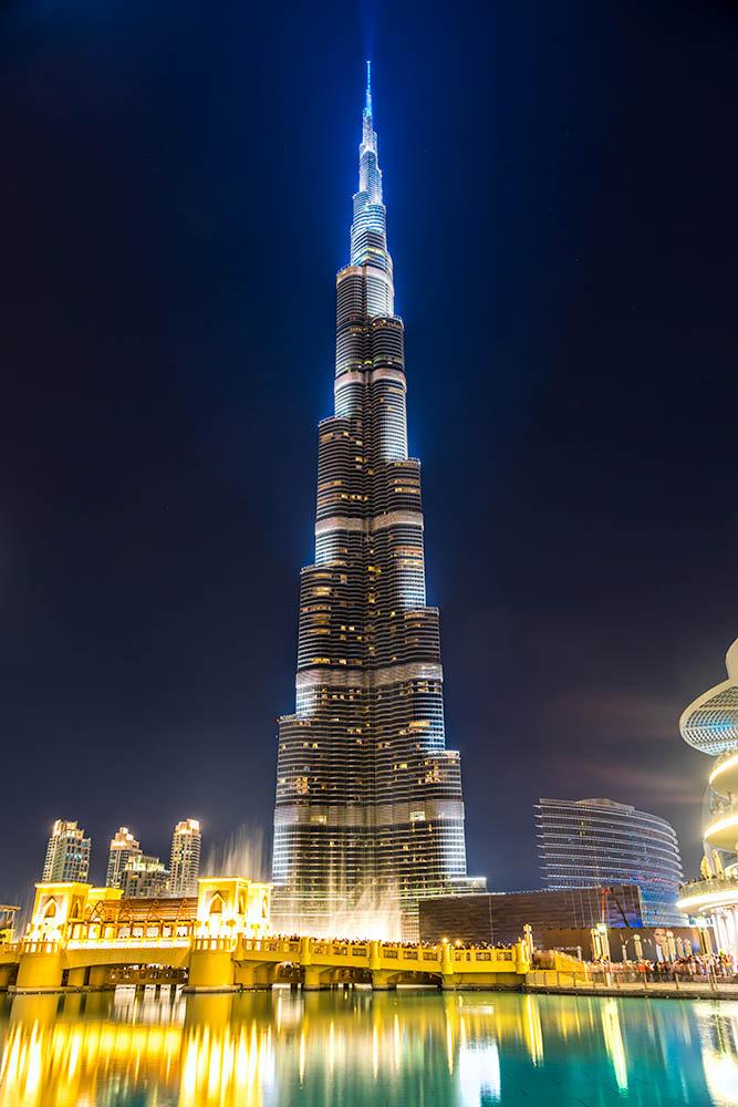 DUBAI, UAE – FEBRUARY 10: Burj Khalifa facade on February 10, 20