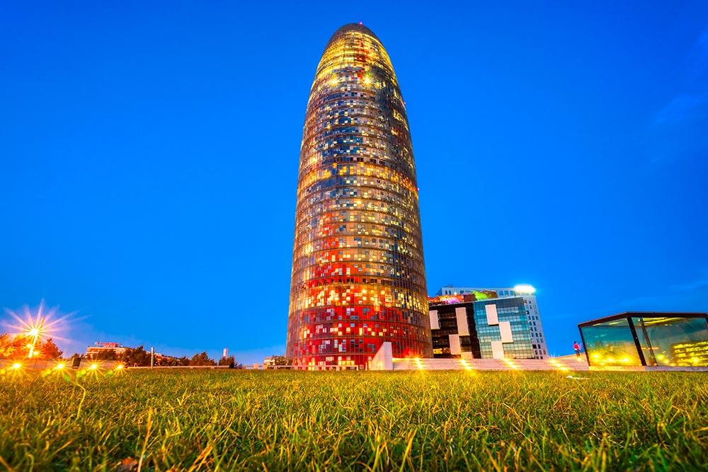 BARCELONA, SPAIN – DECEMBER 19: Torre Agbar on Technological Dis