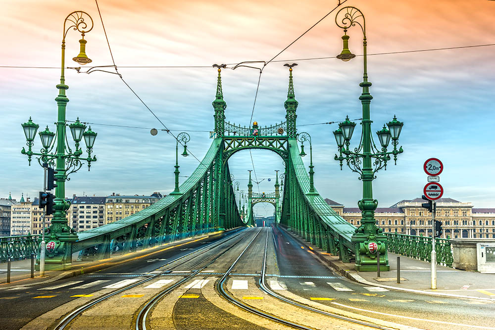 Budapest, Liberty Bridge, Hungary