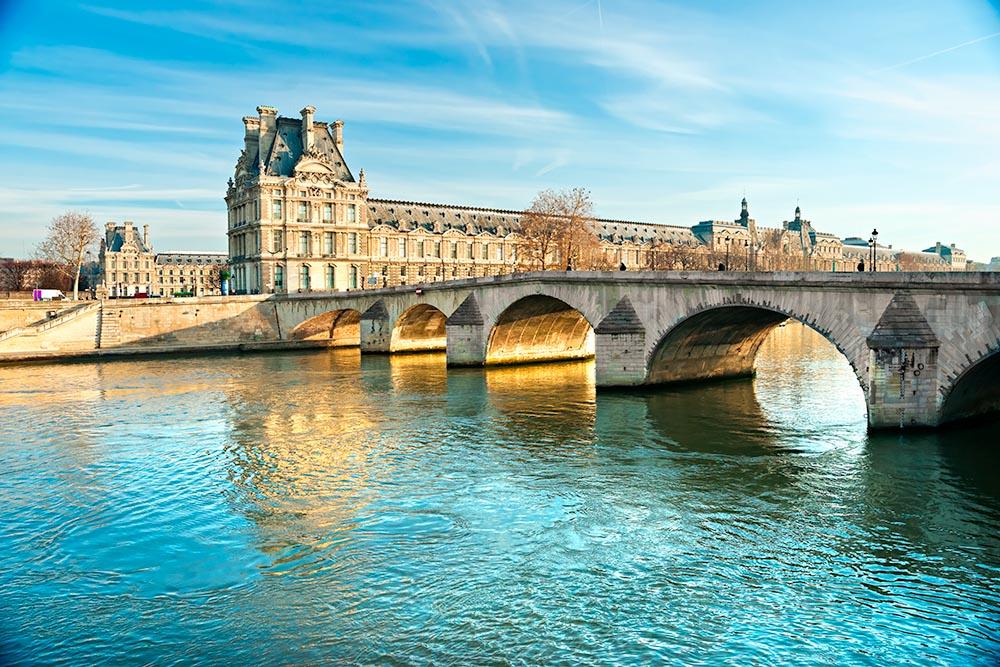 Louvre Museum and Pont du Carousel, Paris – France