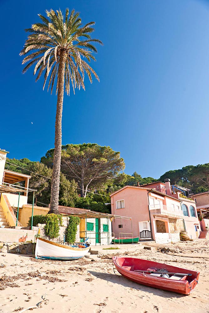 Forno beach, on the Biodola Bay, Elba island.