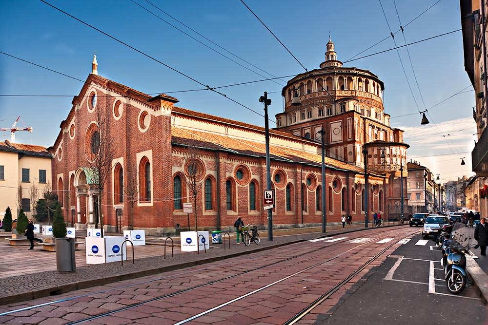 MILAN – DECEMBER 11: Santa Maria dlle Grazie. The church contain