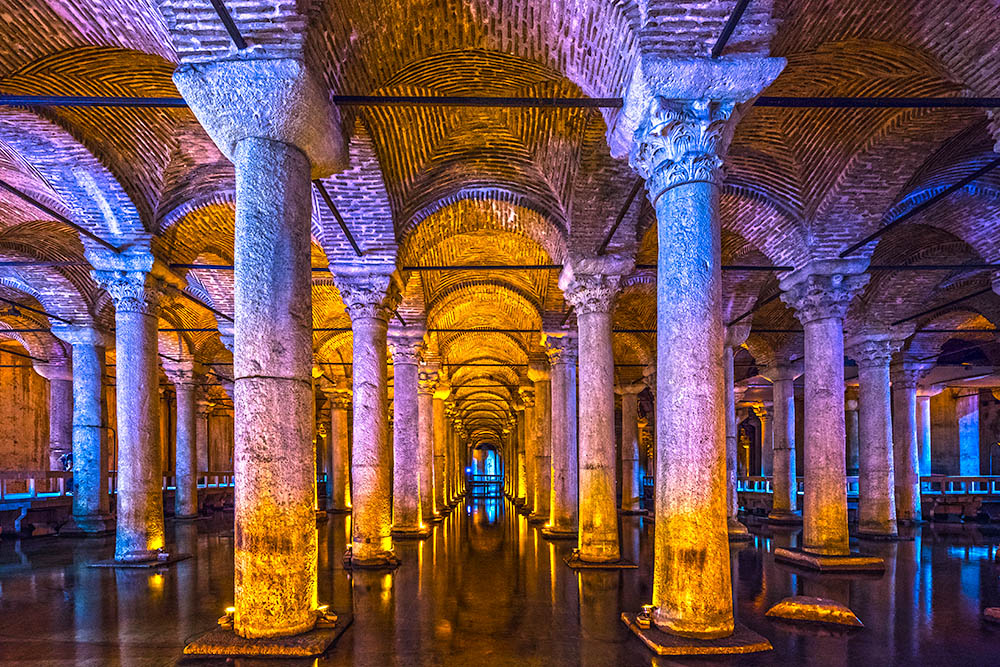 The Basilica Cistern, (Yerabathan), Istanbul, Turkey.