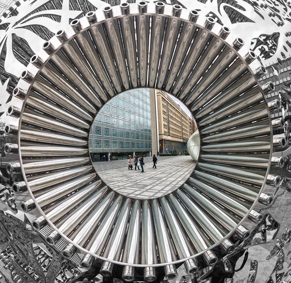PARIS – NOVEMBER 19: view of the Institut du Monde Arabe with el