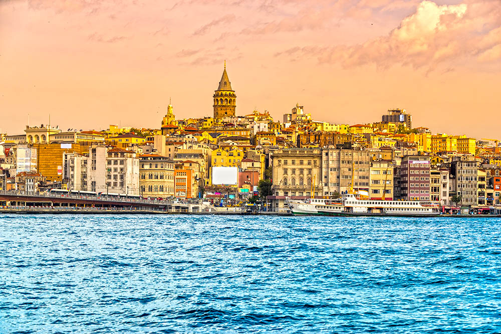 Istanbul at sunset – Galata district, Turkey