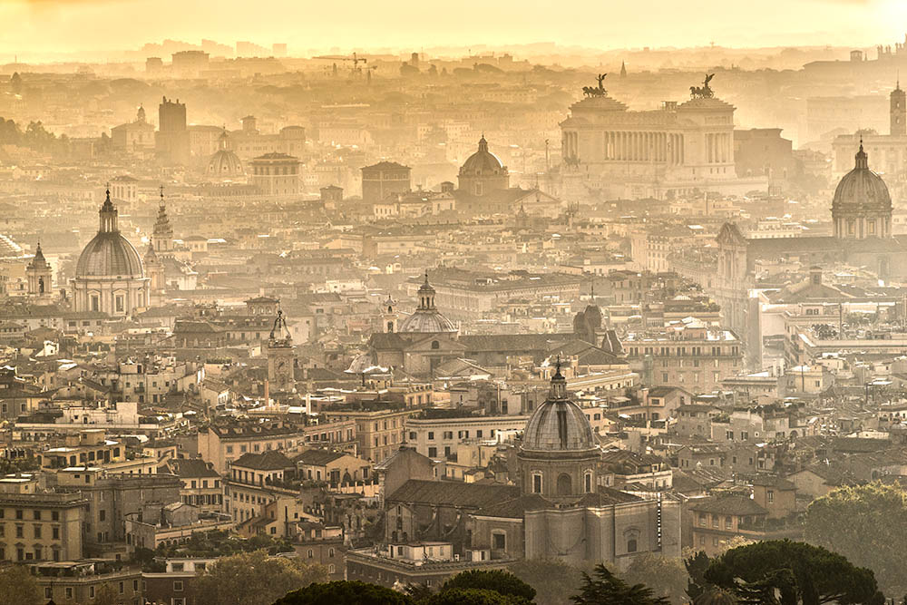 View of Rome, Italy.