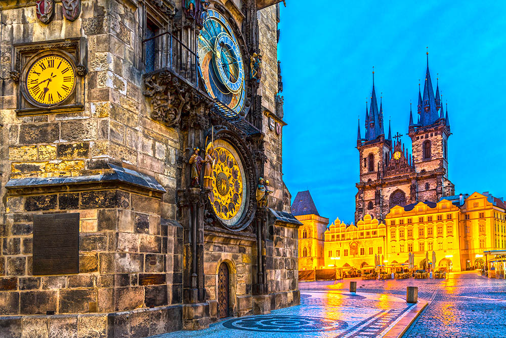 Prague, Tyn Church and Old Town Square