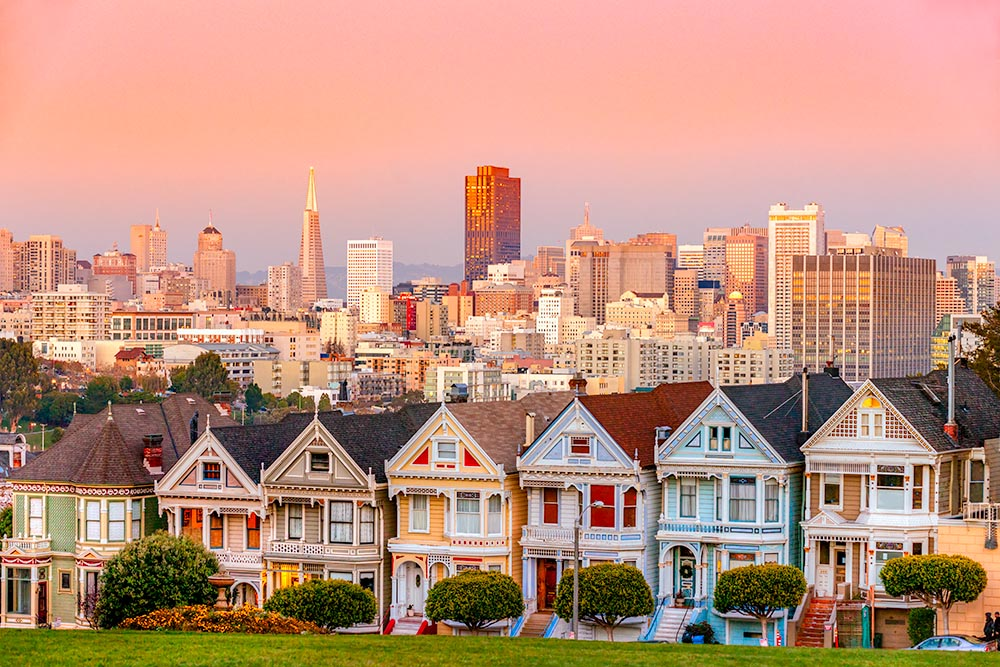 The Painted Ladies of San Francisco, California