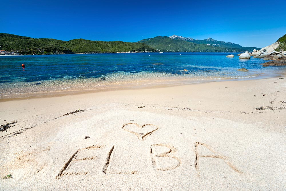 Forno beach, Elba island.