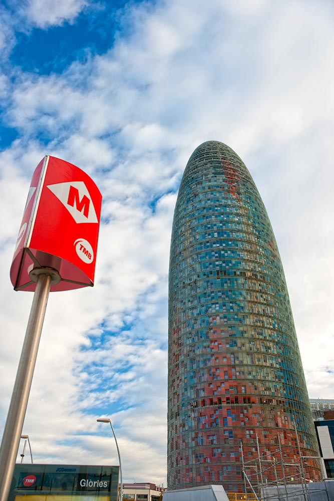BARCELONA, SPAIN – DECEMBER 19: Torre Agbar on Technological Dis