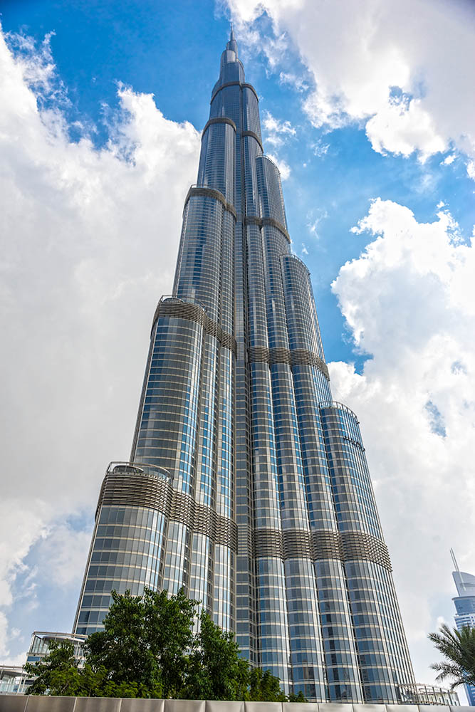 DUBAI, UAE – FEBRUARY 10: Burj Khalifa facade on February 10, 20
