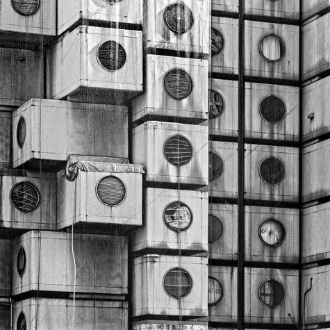 NAKAGIN CAPSULE TOWER - TOKYO - JAPAN - THE WALL - LUCIANO MORTU
