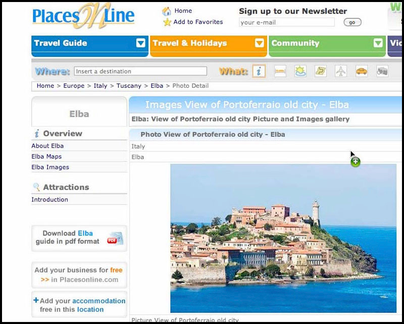 Places online copia