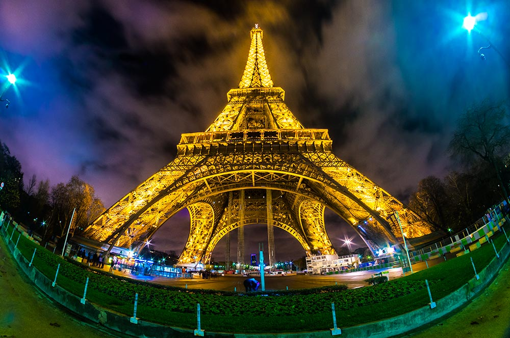 PARIS – DECEMBER 05: Lighting the Eiffel Tower on December 05, 2