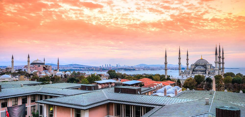 Istanbul, Sultanahmet skyline, Turkey.