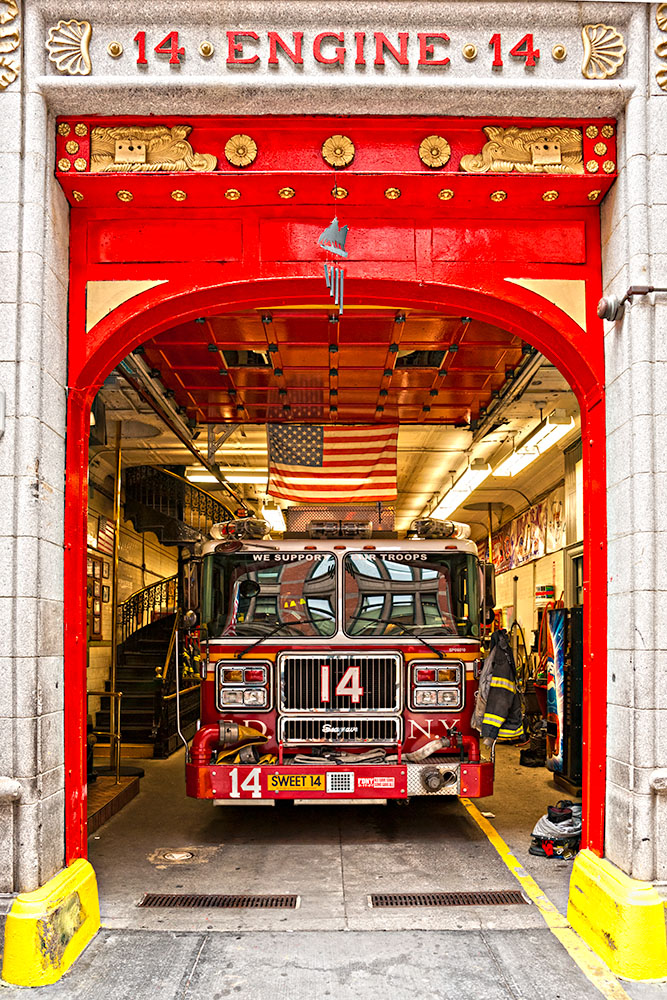NEW YORK -MARCH 29: New York Fire Department Engine 14. The FDNY