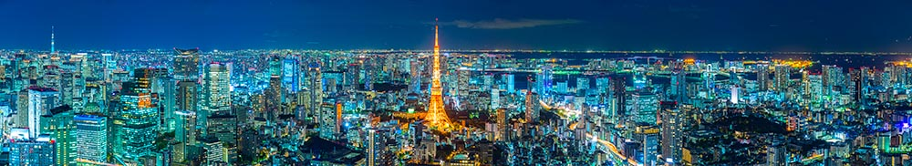 Tokyo skyline,  Japan.
