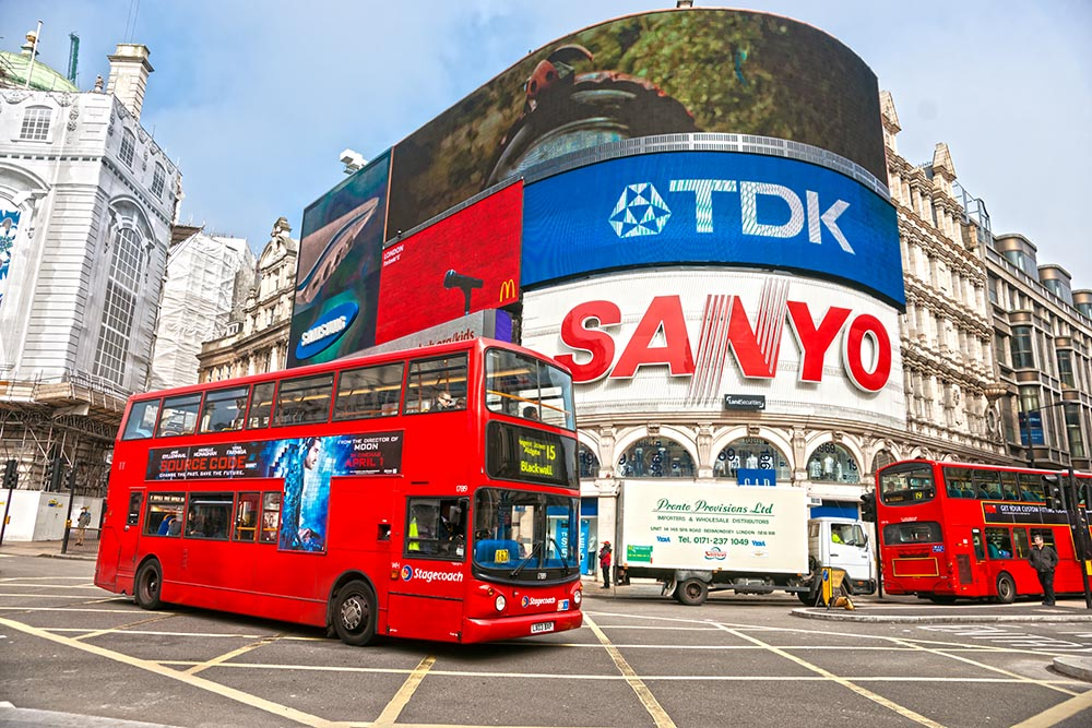 LONDON – MARCH 18: View of Piccadilly Circus on March 18, 2011 i